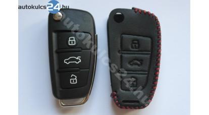 Audi 3 obaľ vystreľovacieho kľúča s tlačidlom kožené puzdrá