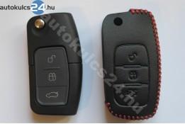 Ford 3 obaľ vystreľovacieho kľúča s tlačidlom kožené puzdrá