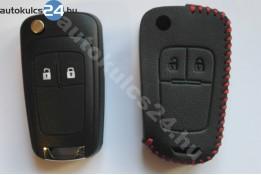 Opel 2 obaľ vystreľovacieho kľúča s tlačidlom kožené puzdrá