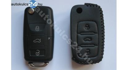 Volkswagen 3 obaľ vystreľovacieho kľúča s tlačidlom kožené puzdrá