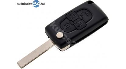 Citroen 4 obaľ vystreľovacieho kľúča s tlačidlom HU83