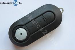 Fiat 3 obaľ vystreľovacieho kľúča s tlačidlom čierna