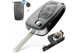 Lancia 3 obaľ vystreľovacieho kľúča s tlačidlom čierna bočná batéria