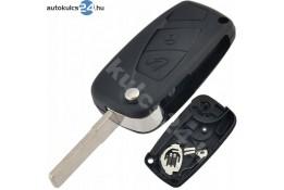 Fiat 2 obaľ vystreľovacieho kľúča s tlačidlom čierna bočná batéria