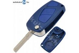 Fiat 2 obaľ vystreľovacieho kľúča s tlačidlom modrý bočná batéria