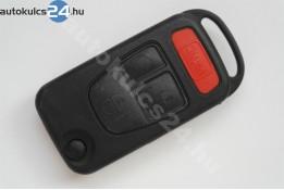Mercedes 3 obaľ vystreľovacieho kľúča s tlačidlom panic tlačidlá delená planžety