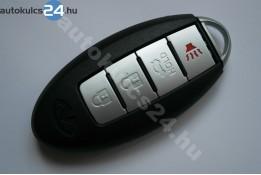 Nissan 3+1 zásuvný kľúč s tlačidlom + záložné kľúče