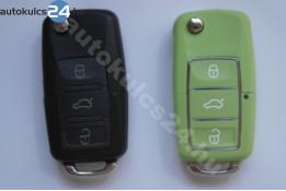 Volkswagen 3 obaľ vystreľovacieho kľúča s tlačidlom vodotesný zelená