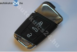 Volkswagen 3 zásuvný kľúč s tlačidlom kov